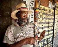 Portrait of Birmingham folk artist Joe Minter, aka, The Peace Maker